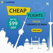 Get flights from Toronto to Mumbai